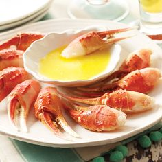The sweet, succulent meat of the snow crab reflects its home in the cold ocean waters.  With its delicate flavor, it is very versatile, yet quite delicious simply served on its own.  These claws are partially shelled and individually frozen, making serving and eating a breeze.  Simply delicious, 2 lb. bag, approximately 40-50 claws.