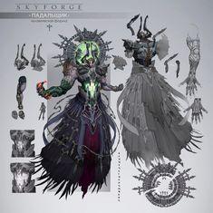 ArtStation - Skyforge - Laert , Anton Lavrushkin Fantasy Character Design, Character Design Inspiration, Character Concept, Character Art, Fantasy Monster, Monster Art, Monster Design, Creature Concept Art, Creature Design