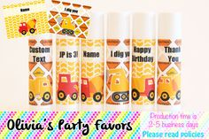 Construction Truck Theme Birthday Party  by OliviasPartyFavors