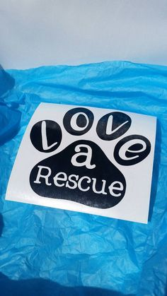 Love a Rescue Decal  Laptop tablet car  Dog by ArkansassyDesigns