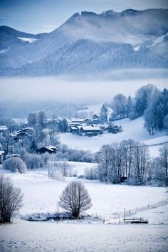 Beautiful winter  shine Berchtesgaden Alps  Germany, Europe