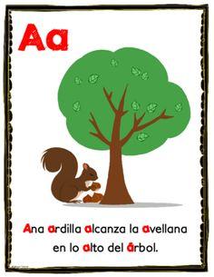 Asombroso alfabeto de aliteracion Posters from Bilingualtreasures on TeachersNotebook.com (29 pages)