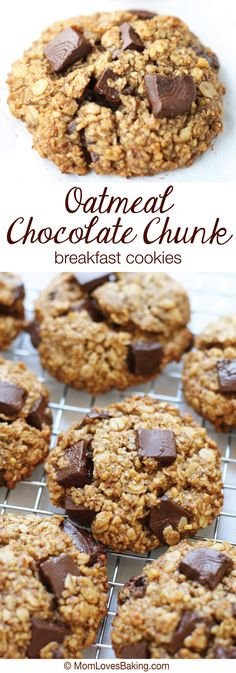 A healthier chocolate chip cookie made with no flour or refined sugar and perfect for breakfast or anytime. #ChocolateForJoan #glutenfree