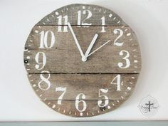 Reclaimed wood clock - how perfectly junky!