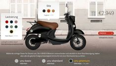 Looking for an electric scooter that's built for adults - in other words, an electric scooter that's street legal? We look at 8 such scooters and the prices Electric Moped Scooter, E Scooter, Electric Bicycle, Electric Mopeds, Models, Bosch, Motor, Inventions, Urban
