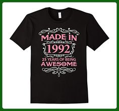 Mens 25th Birthday Gift T-Shirt Made In 1992 - 25 Years Old Shirt 2XL Black - Birthday shirts (*Amazon Partner-Link)