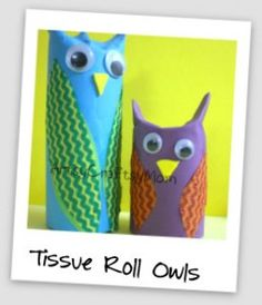 tissue roll owls