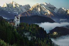 "The Two Castles - <a href=""http://instagram.com/kilianschoenberger/"">@kilianschoenberger I N S T A G R A M</a>  The two fairytale castles Neuschwanstein & Hohenschwangau, Füssen, Allgäu, Bavaria, Germany  <a href=""https://www.facebook.com/pages/Landscape-Photography-by-Kilian-Schoenberger/304631876263547"">L A N D S C A P E   P H O T O G R A P H Y facebook</a>"