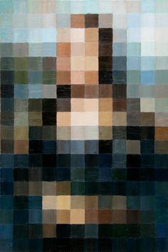 8bit mona 2.0 [Alex Schaefer] (Gioconda / Mona Lisa)