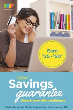 Shop with confidence online by knowing you are getting the best online coupon codes by checking out Coupons.com. Earn up to $50 with the #SavingsGuarantee #ad