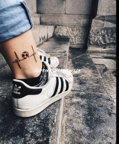 Soccer Tattoos, Football Tattoo, Leg Tattoos, Tattoos For Guys, Tatoos, Sleeve Tattoos, Messi Tattoo, Father Tattoos, True Tattoo