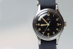 An original R.A.F. issue Omega navigational watch. A small number of Seamaster 30 watches featured dials of similar design.