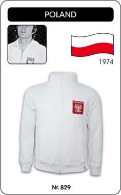 Polen voetbal jack WK 1974 Poland Polska retro voetbal truitje football soccer vintage sport COPA