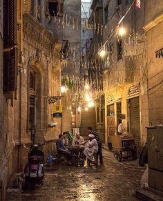 Iftar time in Gamaleya, Cairo Egypt