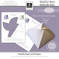 Printable Truffle Box Template - Make your own, DIY, do it yourself Truffle Boxes for Party Favors, Gifts and Candy. Gina Jane Designs - DAISIE Company