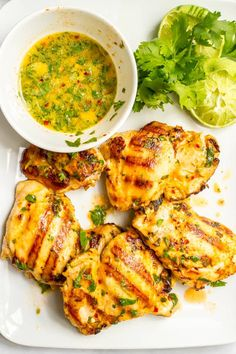 Coconut lime grilled chicken marinade is an easy way to infuse delicious flavor into your regular grilled chicken routine! | www.familyfoodonthetable.com
