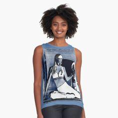 Promote | Wenn sie anstatt ein T-Shirt ein Gemälde trägt und ihre Schönheit ausstrahlt.Wenn sie tanzt und wenn der Sommer kommt. • Entdecke einzigartige Designs und Motive von unabhängigen Künstlern.#wolf#tanz#yogagirl#topgirl#yogalife#loveaffair Vintage Pins, Vintage Ladies, Top Fashion, Fashion Design, Harry Styles Live, Silhouette S, Black Sleeveless Top, Fashion Quotes, Women Empowerment