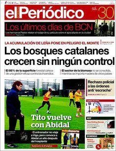 Los Titulares y Portadas de Noticias Destacadas Españolas del 30 de Marzo de 2013 del Diario El Periódico de Catalunya ¿Que le parecio esta Portada de este Diario Español?