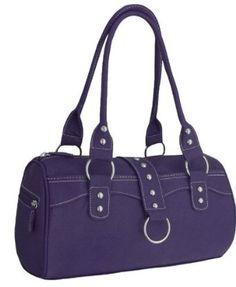 EyeCatchBags - Peru Faux Leather Womens HandBag Dark Purple,£9.95