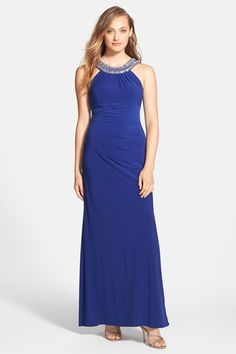 Embellished Jersey Gown by XSCAPE