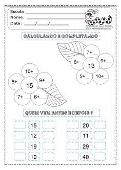 ATIVIDADES DE MATEMÁTICA 2º ANO   TODAS AS ATIVIDADES AQUI POSTADAS, TAMBÉM PEGUEI DE OUTRAS PROFESSORAS E ESTOU COLABORANDO COLOCANDO DE ... Math 2, 2nd Grade Math, Fun Math, Math Games, Preschool Activities, Mental Maths Worksheets, Kindergarten Math Worksheets, Maths Puzzles