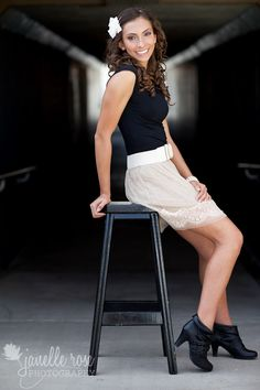 Cute stool pose    Photo by Janelle Rose Photography