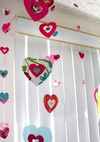 Smart-Bottom Enterprises: Paper Heart Window Treatments