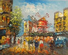 moulin rouge painting | At The Moulin Rouge Painting Paris moulin rouge.