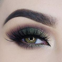 green smokey eye - sooo pretty! ~ we ❤ this! moncheribridals.com @Chelsea_xoxo