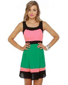 Pink and Green Dress #lovelulus