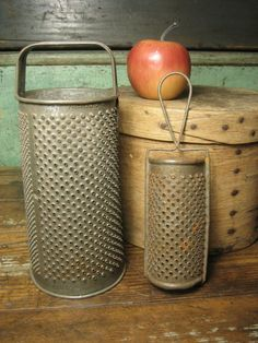 "Granny's Two Old Favorite Farmhouse Tinware Graters ~ from ""Hannah's House Antiques"" shop"