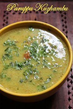YUMMY TUMMY: South Indian Paruppu Kuzhambu Recipe - Basic South Indian Dal Recipe