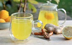 Kurkuma gember citroen thee
