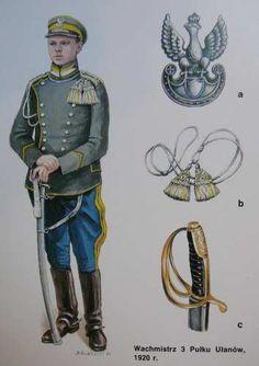 1920 Polish Army uhlan uniform Poland Ww2, Russian Revolution, Army Uniform, Eastern Europe, Coat Of Arms, Armed Forces, Troops, World War, Retro