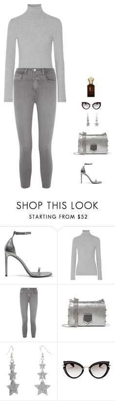 """""""silver"""" by candynena228 ❤ liked on Polyvore featuring Yves Saint Laurent, James Perse, L'Agence, Jimmy Choo, Miu Miu and Clive Christian"""