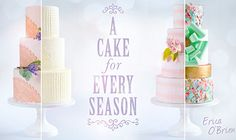 broderie anglaise/eyelet lace wedding cake tutorial by Erica O'Brien