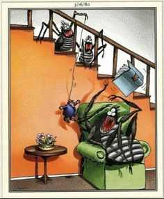 """The Far Side"" by Gary Larson. Far Side Cartoons, Far Side Comics, Funny Cartoons, Funny Comics, Funny Memes, Funny Sarcasm, The Far Side Gallery, Daily Funny, The Funny"