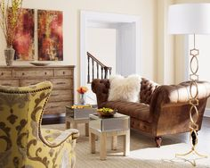 Living Room Brown Sofa Design, Pictures, Remodel, Decor and Ideas - page 21