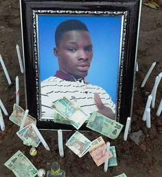 So Sad! See Burial Photos of Alleged Nigerian Cultist 'Gbaja Marine' Killed in Ghana