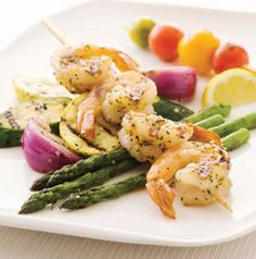 Serve Grilled Shrimp and Mixed Vegetables with Lemon Zest, Garlic and Fresh Herbs any way you'd like. Eat as is or chop and toss with hot cooked linguine. You could probably even turn it into a sandwich too.