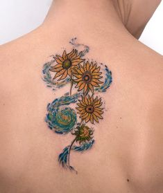 Yellow Flowers Tattoo