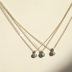 Tiny Turquoise Necklaces.