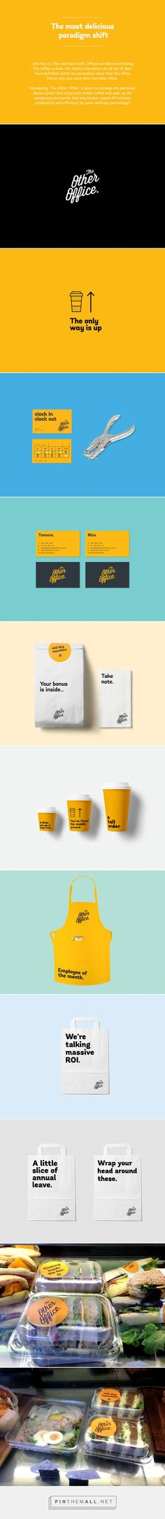 The Other Office identity packaging branding on Behance curated by Packaging Diva PD. Start your day right. A place to recharge the batteries, devour great food, enjoy even better coffee.