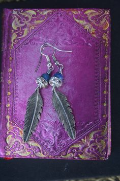 Feather jewelry feather earrings silver feather ooak Swan Jewelry, Feather Jewelry, Bird Jewelry, Feather Earrings, Animal Jewelry, Silver Swan, Lapis Lazuli Earrings, London Style, Quirky Gifts