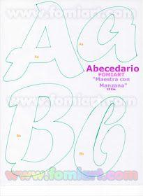 Moldes Gratuitos: 31- Abecedario Gratuito Estilo Fomiart con Maestra con Manzana Hand Lettering Alphabet, Alphabet Art, Monogram Alphabet, Creative Lettering, Graffiti Lettering, Lettering Styles, Lettering Tutorial, Alphabet Templates, Letter Stencils