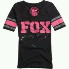 Fox racing pink black shirt