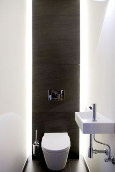 How to Create Bathroom that Fit Best Toilet Closet - Home of Pondo - Home Design Bathroom Design Small, Bathroom Interior Design, Modern Bathroom, Small Toilet Room, New Toilet, Toilet Closet, Bathroom Closet, Master Bathroom, Toilette Design