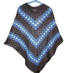 ✓ Adult Poncho crochet pattern