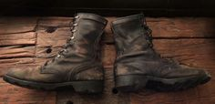 Bad Ass Vintage Leather Military Combat Boots ~ Mens Sz. 10 Regular Ready for your biker, hipster or military afficionado! A great Christmas present!