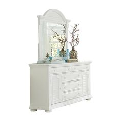 Shop Liberty Furniture  Summer House Dresser with Mirror at ATG Stores. Browse our dressers, all with free shipping and best price guaranteed.